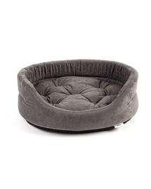 INTERZOO Pat oval de caine cu perna gri, Marime XL: 75x62x22 cm