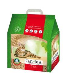 JRS Cat's Best Original Eco Plus Asternut natural pentru litiera 5 L (2,1 kg) + lopatica pentru litiera GRATIS