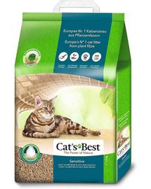 JRS Cat's Best Sensitive asternut din lemn pentru litiera pisicilor 20L + lopatica pentru litiera GRATIS