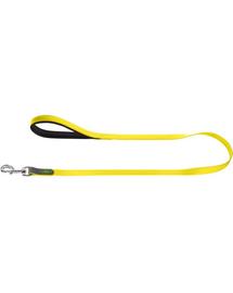HUNTER Convenience Lesa pentru caini 1,5cm/1,2m, galben neon
