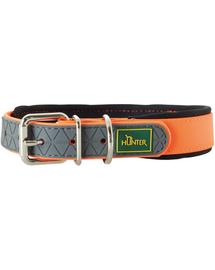 HUNTER Convenience Comfort Zgarda pentru caini, marimea M (50) 37-45/2,5cm portocaliu neon
