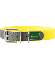 HUNTER Convenience Zgarda pentru caini, marime M (50) 38-46/2,5cm galben neon