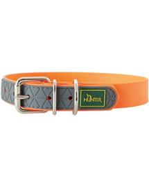 HUNTER Convenience Zgarda pentru caini, marimea M-L (55) 42-50/2,5cm portocaliu neon