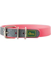 HUNTER Convenience Zgarda pentru caini, marimea L (60) 47-55/2,5cm roz neon