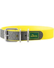 HUNTER Convenience Zgarda pentru caini, marimi L-XL (65) 53-61/2,5cm galben neon
