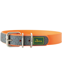 HUNTER Convenience Zgarda pentru caini, marimea L-XL (65) 53-61/2,5cm portocaliu neon