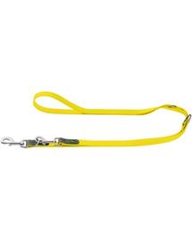 HUNTER Convenience Lesa reglabila pentru caini 2cm/2m, galben neon