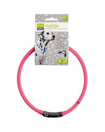 HUNTER LED Yukon Zgarda cu led pentru caini 20-70cm, roz
