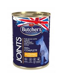 BUTCHER'S Functional Dog Joints Hrana umeda pui cu sos pentru caini 10x400g + frisbee GRATIS