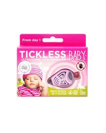 TICKLESS Baby Repelent cu ultrasunete pentru eliminarea capuselor, roz