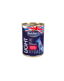 BUTCHER'S Functional Dog Hrana umeda cu vita si legume in sos pentru caini 10x400g + frisbee GRATIS