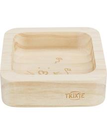 TRIXIE Castron din lemn pentru iepure/rozatoare 60ml/8x8cm