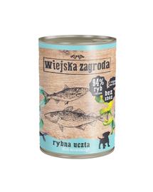 WIEJSKA ZAGRODA Junior hrană umedă fără cereale, cu pește 400 gr