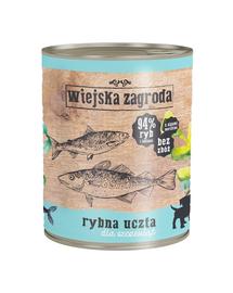 WIEJSKA ZAGRODA Junior hrană umedă fără cereale, cu pește 800 gr