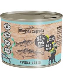 WIEJSKA ZAGRODA Junior hrană umedă fără cereale, cu pește 200 gr