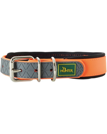 HUNTER Convenience Comfort Zgarda pentru caini, marimea S (40) 27-35/2cm portocaliu neon