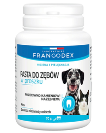 FRANCODEX Pastă de dinți pudră pentru câini și pisici 70 g