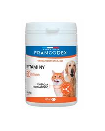 FRANCODEX Vitamine pentru câini și pisici 60 capsule