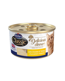 BUTCHER'S Classic Delicious Dinners mousse cu curcan 85 g