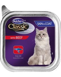BUTCHER'S Cat Classic Piele&Blană pate cu vită 100 g