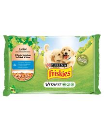 FRISKIES Vitafit Junior hrana umeda pentru caini juniori cu pui si morcov în sos 40x100g