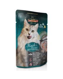 LEONARDO Finest Selection hrana umeda pisici adulte, cu peste si creveti 85 g