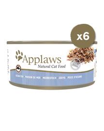 APPLAWS Hrana umeda cu peste de ocean, 6 x 156 g