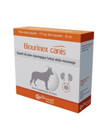 BIOWET Biourinex Canis capsule pentru caini care sustin functiile sistemului urinar 45 buc.