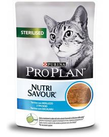 PURINA PRO PLAN Sterilised hrana umeda pisici sterilizate, carne de cod 24 x 85 g