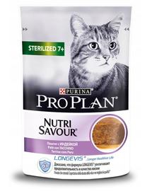 PURINA PRO PLAN Sterilised hrana uscata pisici sterilizate cu varsta 7+, carne de curcan 24 x 85 g