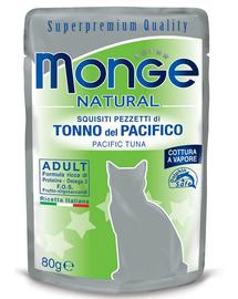 MONGE hrană umedă pentru pisici, cu ton cu aripioare galbene 80 g
