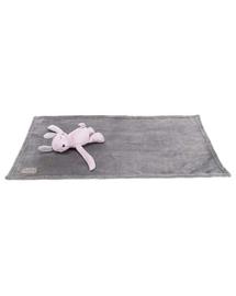 TRIXIE Set Junior pătură și jucărie 75 x 50 cm, gri/liliac