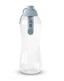 DAFI Sticlă cu filtru 0,7 L gri-oțel + 2 cartușe de filtrare