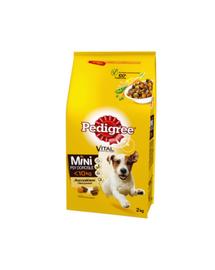 PEDIGREE Adult Small Dog, pentru câini de talie mică cu păsări de curte și legume 6 x 2 kg