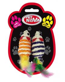 PET NOVA Jucarie pentru pisici, soareci 7x3cm, set 2buc.