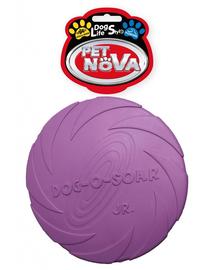 PET NOVA DOG LIFE STYLE Frisbee pentru caini, din cauciu 15cm, violet