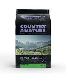 DR PETCARE Country&Nature Lamb&Turkey Hrana uscata caini adulti talie mica/mijlocie, miel si curcan 14 kg