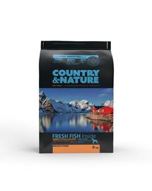 DR PETCARE Country&Nature Ocean White Fish Recipe Hrana uscata caini adulti talie medie/mare, cu peste 3 kg