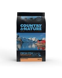 DR PETCARE Country&Nature Ocean White Fish Recipe Hrana uscata caini adulti talie medie/mare, cu peste 14 kg