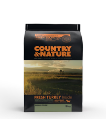 DR PETCARE Country&Nature Turkey&Vegetables Recipe Hrana uscata caini adulti talie mica, curcan si legume 9 kg