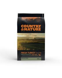 DR PETCARE Country&Nature Turkey&Vegetables Recipe Hrana uscata caini adulti talie mica, curcan si legume 14 kg