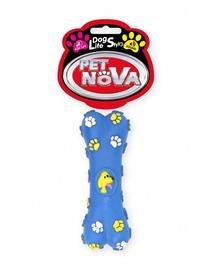 PET NOVA DOG LIFE STYLE Jucarie os pentru caini, albastru 15cm