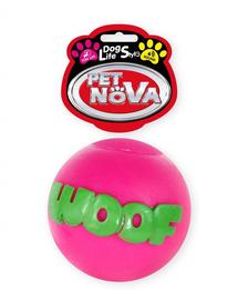 PET NOVA DOG LIFE STYLE Minge WOOF pentru caini,roz, 8cm