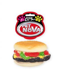 PET NOVA DOG LIFE STYLE Hamburger jucarie pentru caini 9cm