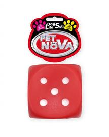 PET NOVA DOG LIFE STYLE Jucarie cub pentru caini, 6 cm, rosu