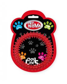 PET NOVA DOG LIFE STYLE Jucarie pentru caini Ringo Dental 12,5cm, rosu, aroma de menta