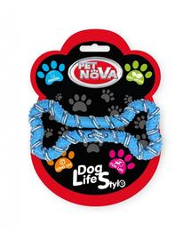 PET NOVA DOG LIFE STYLE Franghie in forma de os pentru caini 20cm, albastru, aroma de menta