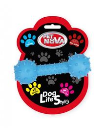 PET NOVA DOG LIFE STYLE Jucarie os cu clopotel  pentru caini 14cm, albastru, aroma carne de vita