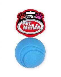 PET NOVA DOG LIFE STYLE Minge de tenis pentru caini, rosie, aroma de vita, 5 cm