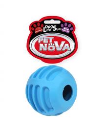 PET NOVA DOG LIFE STYLE Minge pentru caini, albastra, aroma de vita, 6cm